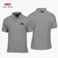polo shirt olahraga li-ning / baju kaos kerah badminton lining