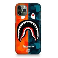 Hard Case Casing Supreme Shark Bape For iPhone 12 Pro I Pro Max