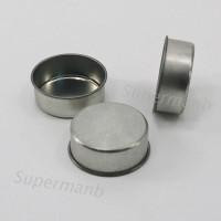Sup 1pc Cup Holder Lilin / Jelly / Gel Diy Bentuk Bulat Bahan Metal