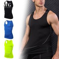 Kaos Tank Top Pria Tanpa Lengan Model Ketat Untuk Olahraga Gym
