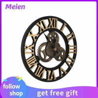 Meien Gear Wall Clock Retro Industrial Decor Vintage Indoor Model