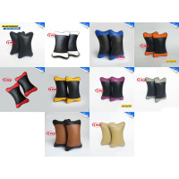 2 Pcs Premium Bantal Mobil Set Leher Kepala 2 Warna Baleno