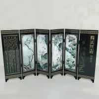 6 Bagian Partisi Pemisah Ruangan Model Lipat Bahan Bambu
