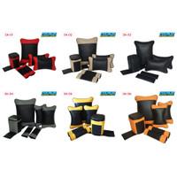 Bantal Mobil Set Leher Pinggang Kulit Premium Agya