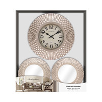 INFORMA - JAM DINDING - WALL CLOCK SET OF 3 836A GOLD 12INCH
