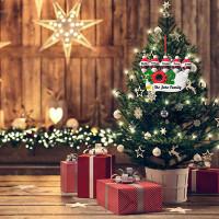 Ornamen Gantung Warna Hitam Untuk Dekorasi Pesta Natal/Ulang Tahun