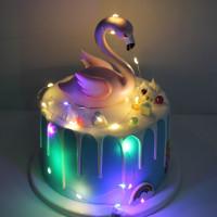 Lampu String Led Mini Dekorasi Kue Ulang Tahun / Pernikahan / Natal