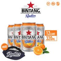 Bir Bintang Radler Orange 320ml Can Multipack 12 + FREE Tas Pinggang