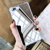 Case Iphone X XS XR XS MAX Casing Mirror Kaca Anticrack Cover - IPHONE X/XS, SILVER