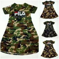 DRESS ANAK PEREMPUAN MOTIF ARMY DRESS ANAK CEWEK MOTIF ARMY BAJU ANAK