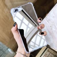 Case Iphone 6 6s 7 8 6Plus 7 8 Plus Casing Mirror Kaca Anticrack Cover - IPHONE 6/6S, SILVER