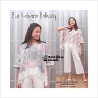 Terbaru Blus Kalyana Batwing Renda Batik Jumbo Kelelawar Atasan Lowo B