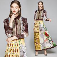 Baju Gamis Wanita AVA CHARMING Dres Casual Untuk Lari/Musim Panas/Semi