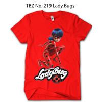 Baju Ladybug Miraculous Anak BRAF Kaos Katun 24s Original