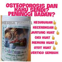 CALCIUM SOFTGEL GREEN WORLD ORIGINAL 100%/OBAT OSTEOPOROSIS/OBAT PENGE
