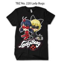 Baju Ladybug & Cat Noir DEWASA BRAF Kaos Bahan Premium Katun