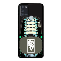 Casing Samsung Galaxy A21s Vans SHoes Aztec Pattern BLACK J0209