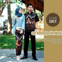 Couple Baju Batik Kebaya Wisuda - Seragam Baju Kebaya Burkat - Ba