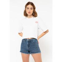 Colorbox Printed Crop -Shirt I:Tskkey220L034 Off White