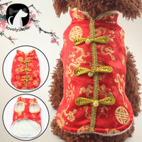 TOP Lovelysmile Pet Winter Chinese Style Embroidery Clothes 2020 New Y