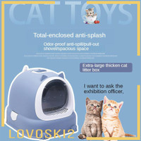 TOP LOVOSKI2 Ultra Automatic Self Cleaning Hooded Cat Litter Box Inclu
