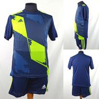 Setelan Baju/Kaos Sepak Bola/Futsal Dri-Fit Print Adidas AD155 Navy