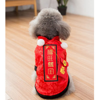 TOP Pet Dog Clothes Chinese Traditional Tang Suit Costumes Winter