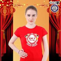 Baju Kaos Warna Dewasa Pria/Wanita/Unisex Design Imlek Umum - Merah