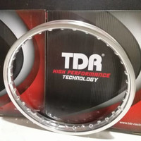 Pelek Pelak Velg TDR W-Shape Kotak Jari Ruji Ring 17 x 160 1 Pcs Not
