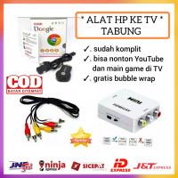 PAKET ANYCAST HDMI DONGLE UNTUK KE TV TABUNG ANYCASH HDMI2AV KABEL RC