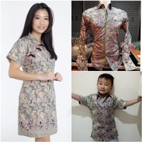 Couple family Bestari Dress Midi Cheongsam imlek natal kombi kemeja