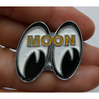 Vintage Moon Eye Pin Motorcycle Biker Triumph Cafe Racer Norton