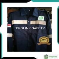 Di jual Baju seragam safety biru dongker scotlight fosfor wearpack