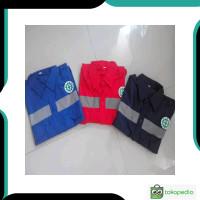 Bagus Baju Safety seragam kerja proyek scotlight lengan panjang
