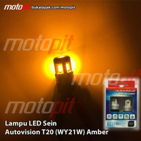 c. Autovision Led T20 Sein Sign Sen Riting Amber Kuning Emas Wy21W Col