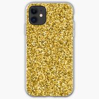 Gold glitter shiny pattern Casing iphone XS MAX 12 11 8 Plus Pro case