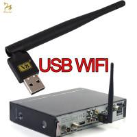 TOP V8 Dongle USB 2.0 WiFi Antena Mini Portable untuk TV Satelit