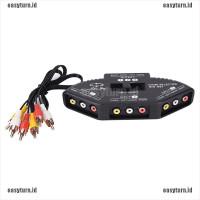 BEST EASY 3Way Audio Video AV RCA Switch Selector Box Composite Splitt
