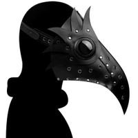Homyl1 Topeng Doctor Plague Hidung Panjang Bahan Kulit Pu Untuk