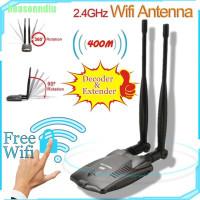 TOP HO Password Cracking Internet Long Range Dual Wifi Antenna USB Wi