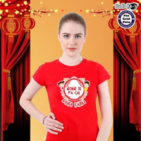 Promo Baju Kaos Warna Dewasa Pria/Wanita/Unisex Design Imlek Umum -