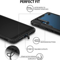 PROMO Original Rearth Ringke Fusion X Case For Huawei P20 Black RGY