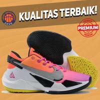 Sepatu Basket Sneakers Nike Greek Freak 2 NRG Pink White Yellow