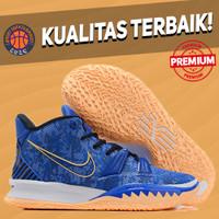 Sepatu Basket Sneakers Nike Kyrie 7 Sisterhood Blue White Orange