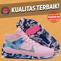 Sepatu Basket Sneakers Nike KD 13 Think Pink Aunt Pearl Pria Wanita