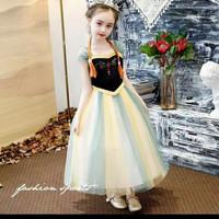 baju anak perempuan/dress princess ana frozen - 4-5 tahun
