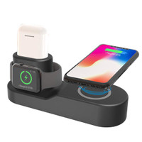 NEW 4 in 1 Qi Induction Wireless Charger Charging Dock For Apple Watc