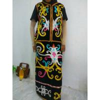 Baju adat Hitam dayak Kalimantan (dewasa)