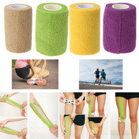 Athletic Tape Sports Stretch Elastic Self-adhesive Roll Bandage