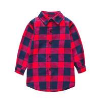 Kemeja cetak fashion anak laki-laki Kemeja baru musim semi Baju